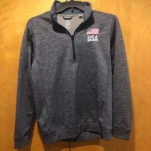 Adidas Team Issue USA zip up
